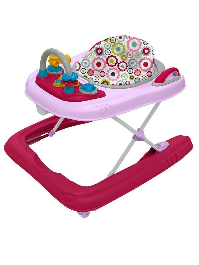 BABY MIX Dětské chodítko Baby Mix 2v1 pink