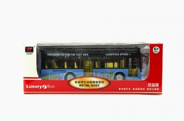 Teddies Autobus kov 21cm na baterie se zvukem se světlem