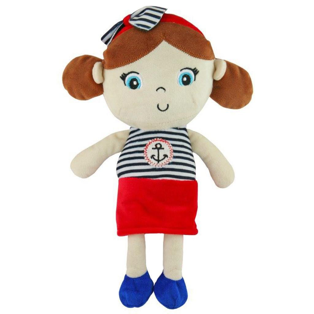 BABY MIX Edukační plyšová panenka Baby Mix námořník holka