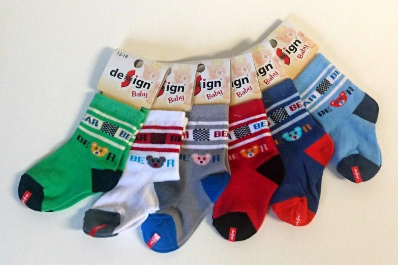 Design Socks Kojenecké ponožky méďa 12 -18 m