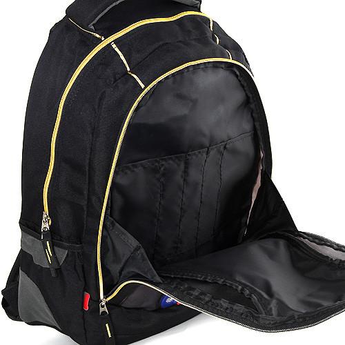 Batoh Goal - černý - zlaté zipy - číslo 7 ... 10e1449234
