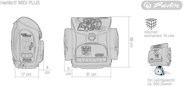 Školní batoh Herlitz Midi Transformers Optimus Prime modrý vybavený -nezobra  ... affb852c31