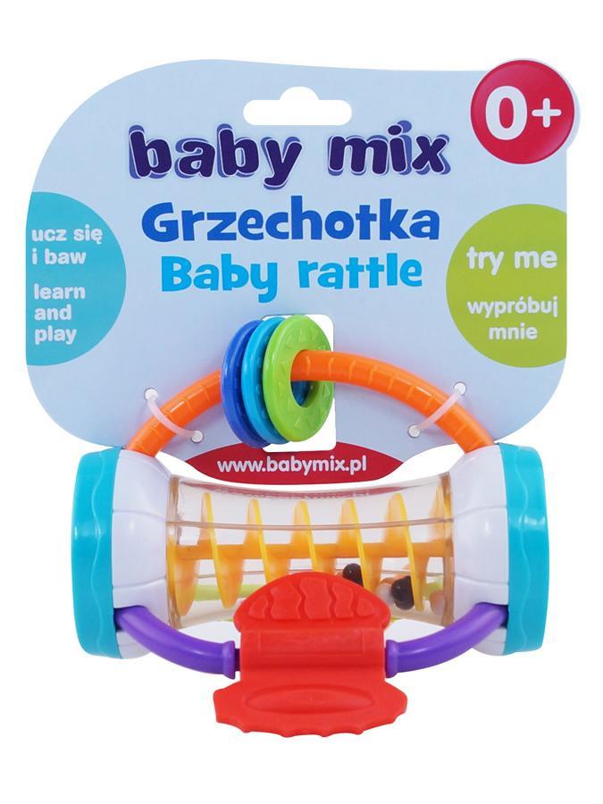 BABY MIX Dětské chrastítko Baby Mix barevný válec