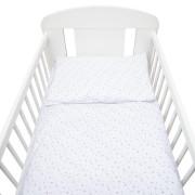 2-dílné ložní povlečení New Baby 90/120 cm bílé šedé hvězdičky