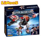 LiNooS stavebnice 385 ks robot/dinosaurus s postavičkou