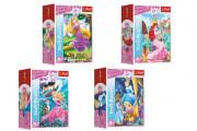 Minipuzzle 54 dílků Dobrodružný svět princezen 4 druhy v krabičce 9x6,5x4cm