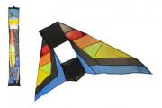 Drak létající nylon delta 183x81cm barevný