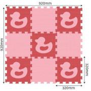 Pěnové puzzle podlahové s kačenkami 30 x 30 cm, 20 ks