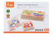 Dřevěné magnetické puzzle - dopravní prostředky Viga