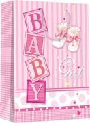 Dárková taška S - Baby girl 11,3 x 14,5 cm