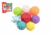 Sada míčků 9ks s texturou gumové 6-7cm
