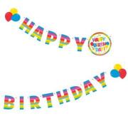 Party pozdravný řetěz 1,60m Happy Birthday
