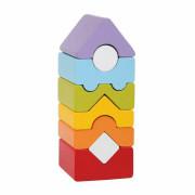 Věž XII - dřevěná skládačka 8 dílů Cubika