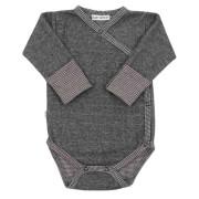 Zimní celorozepínací body dl. rukáv s rukavičkami Melírek šedý Baby Service