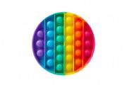 Bubble pops - Praskající bubliny silikon antistresová spol. hra kruh duha 12 cm
