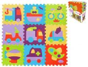 Pěnové puzzle 9 ks Dopravní prostředky 30 x 30 cm
