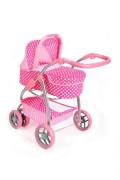 Kočárek pro panenky PlayTo Jasmínka světle růžový