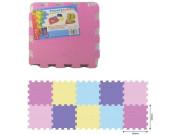 Pěnové puzzle podlahové barevné pastels 10 ks, 32 x 32 cm