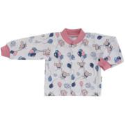 Kojenecký bavlněný kabátek Myšky Růžový Esito