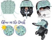 Sluneční Clona Dooky Limitovaná edice - LITTLE PRINCESS s reflexními obrázky