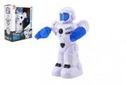Robot jezdící plast 26cm EN mluvící na baterie se světlem se zvukem