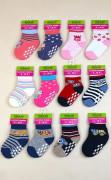 Kojenecké ponožky FROTÉ protiskluzové PD0119 6 - 12 měs. Pidilidi
