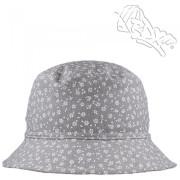 Dívčí letní klobouk Drobné kytičky Šedý RDX