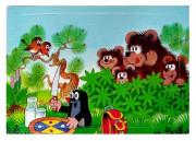 Pěnové puzzle Krteček 12 dílků Mlsní medvědi