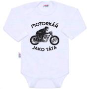 Body s potiskem New Baby Motorkář jako táta