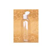 Plastová lahvička s odklápěcím uzávěrem čirá,100 ml