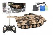 Tank RC plast 27cm 40MHz na baterie+dobíjecí pack se zvukem