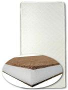 Matrace do kolébky kokos-molitan-kokos 80x40 cm - bílá
