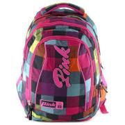 Studentský batoh 2v1 Pink Backpack Pink Rainbow