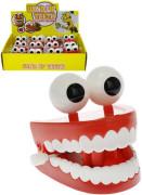 Skákající zuby s očima 7cm na klíček