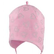Dívčí kojenecká čepice vázací MIKY Růžová RDX