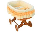 Proutěný košík na miminko Scarlett Martin - Oranžová