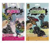 Vyškrabávací magnety Víly/Dinosauři