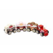 """Vlak """"Cakes"""" - dřevěný vláček s magnety Cubika"""