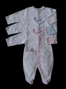 Bavlněná kombinéza s rukavičkami Medvídci  Baby Service BÍLÁ Vel. 86
