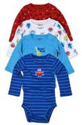 Body kojenecké 4pack, s dlouhým rukávem, Pidilidi, PD1004, kluk