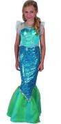 Šaty na karneval - mořská panna Vel. 120 - 130 cm