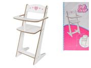 Dřevěná židlička pro panenky 53 cm