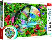 Puzzle spirálové Tropická zvířata 1040 dílků