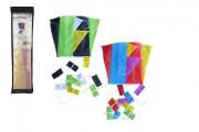 Drak létající nylon 60x45 cm barevný