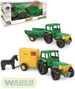 Traktor s vlečkami 38cm Wader