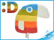 Papoušek Duháček plyšový 30x37cm velký 0m+