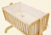 Souprava do kolébky Méďa - béžová, 6ti dílná