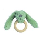 Králíček Zelený Richie s dřevěným kroužkem Happy Horse