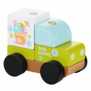 Zmrzlinový vůz - dřevěná skládačka Cubika