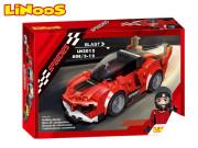 LiNooS stavebnice 170 ks auto sportovní na volný chod